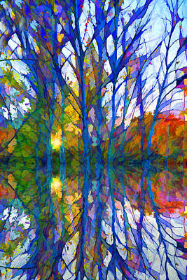 Impressionist Mixed Media - Reflections by Lilia D