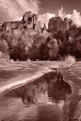 Photograph - Reflections Of Cathedral Rock by Leda Robertson