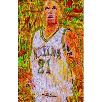 Basketball Photograph - Reggie Miller. Ucla. Indiana Pacers by David Haskett
