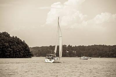 Lake Keowee Photograph - Relaxing On Lake Keowee In Sout Carolina by Alex Grichenko