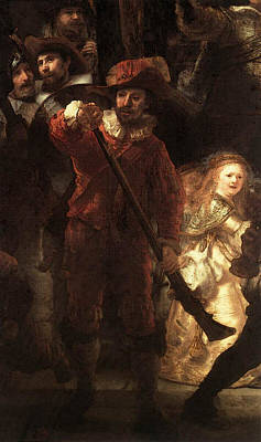 Rembrandt The Nightwatch  Art Print by Rembrandt