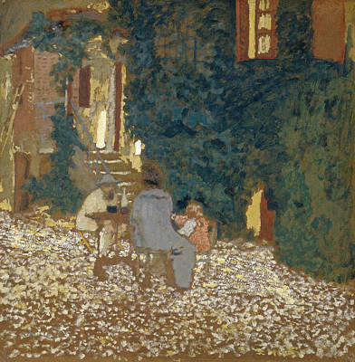 Eating Painting - Repast In A Garden by Edouard Vuillard