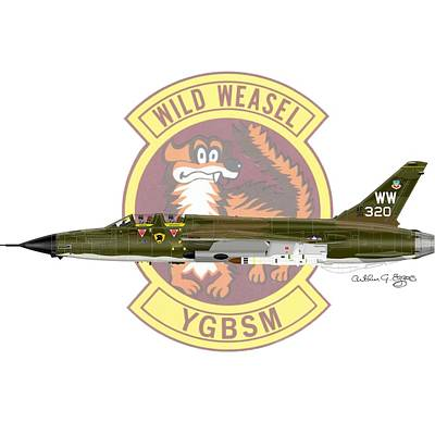 Republic F-105g Thunderchief 561tfs Art Print by Arthur Eggers