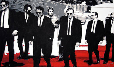 Tarentino Painting - Reservoir Dogs by Hood alias Ludzska