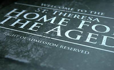 Senior Digital Art - Retirement Home Signage by Allan Swart