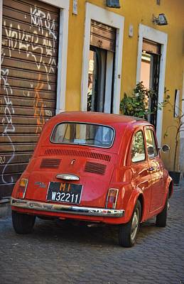 Photograph - Orange Fiat 500 by JAMART Photography
