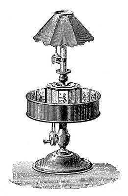 Invention Of Motion Photograph - Reynauds Praxinoscope, 1882 by Science Source