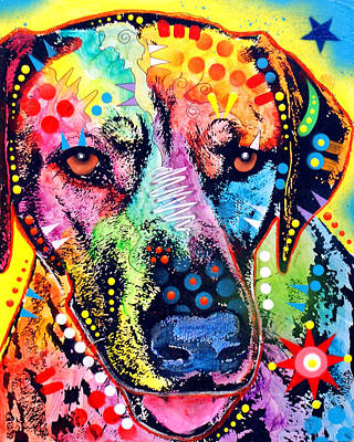 Colorful Painting - Rhodesian Ridgeback by Dean Russo