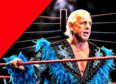 Ric Flair Wrestling Collection Art Print by Marvin Blaine