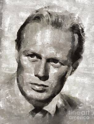 Musicians Royalty Free Images - Richard Widmark Hollywood Actor Royalty-Free Image by Mary Bassett