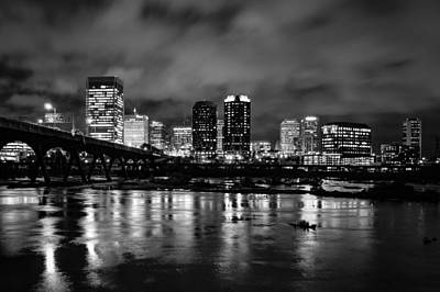 Richmond Skyline At Night Art Print