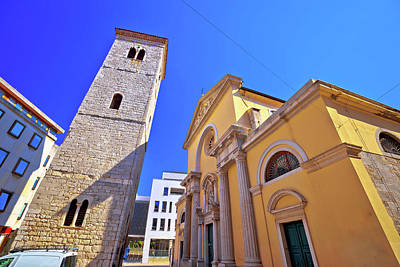 Abstract Graphics - Rijeka church and square street view by Brch Photography