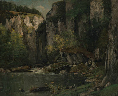 Painting - River And Rocks by Gustave Courbet