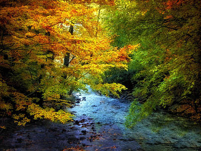 Autumn Landscape Digital Art - River View by Jessica Jenney