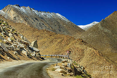 Hill Photograph - Road Mountains Of Leh Ladakh Jammu And Kashmir India by Rudra Narayan  Mitra