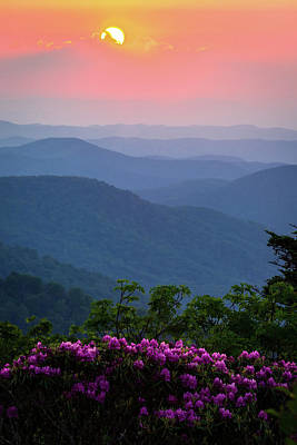 Photograph - Roan Mountain Sunset by Serge Skiba