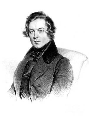 Melancholia Wall Art - Photograph - Robert Schumann, German Composer by Science Source
