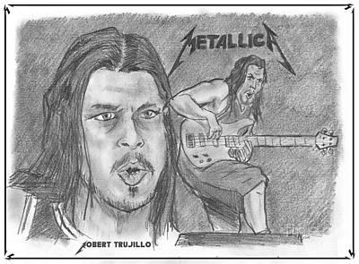 Drawing - Robert Trujillo by Chris  DelVecchio