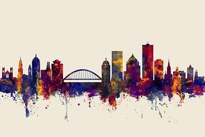Rochester Digital Art - Rochester New York Skyline by Michael Tompsett