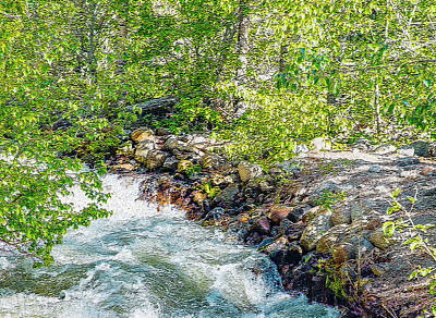 Photograph - Rocks And Water by Nancy Marie Ricketts