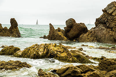 Photograph - Rocky Shoreline by Marius Sipa