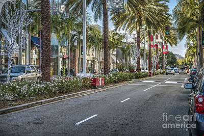 Rodeo Drive Beverly Hills Art Print by David Zanzinger