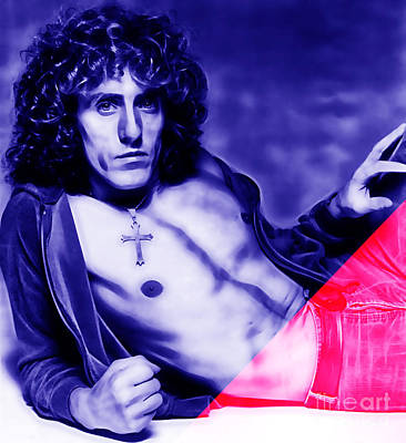 Poster Mixed Media - Roger Daltrey Collection by Marvin Blaine