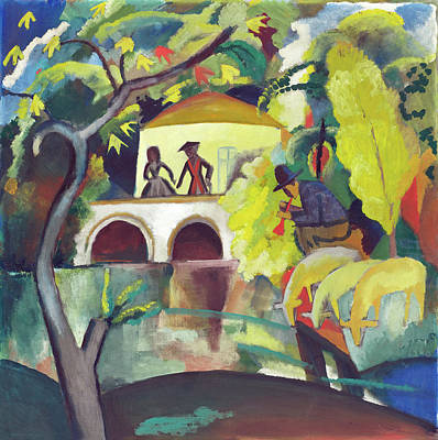 Painting - Rokoko by August Macke