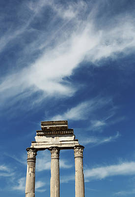 Temple Of Castor And Pollux Photograph - Roman Forum, Rome, Italy by Bruce Beck