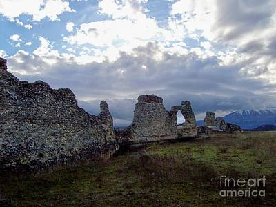 Art Print featuring the photograph Roman Ruins by Judy Kirouac