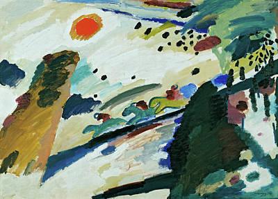 Kandinsky Painting - Romantic Landscape by Wassily Kandinsky
