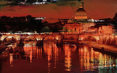 Painting - Rome Italy  by Gull G