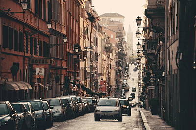 Photograph - Rome Street View by Songquan Deng