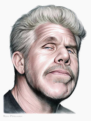Drawing - Ron Perlman by Greg Joens