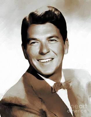 Politicians Rights Managed Images - Ronald Reagan, Actor, President Royalty-Free Image by Mary Bassett