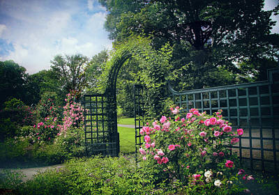Rose Garden Gate Art Print by Jessica Jenney