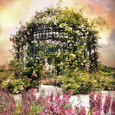 Vines Photograph - Rose Garden Pergola by Jessica Jenney