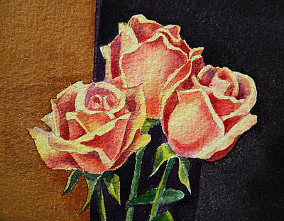 Old School House Painting - Roses   by Irina Sztukowski