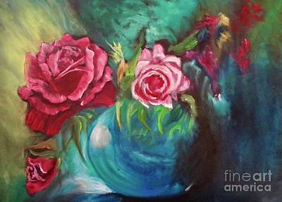 Painting - Roses One Of A Kind Handmade by Jenny Lee