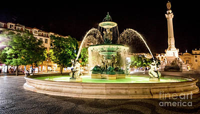 Photograph - Rossio Square Night by Benny Marty