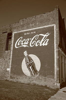 Route 66 - Coca Cola Ghost Mural Art Print by Frank Romeo