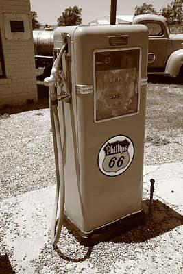 Route 66 Gas Pump Art Print by Frank Romeo