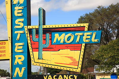 Route 66 - Western Motel Art Print