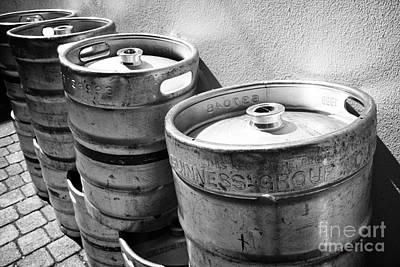 St Photograph - Row Of Guinness Stout Barrels Outside A Pub Sligo Republic Of Ireland by Joe Fox