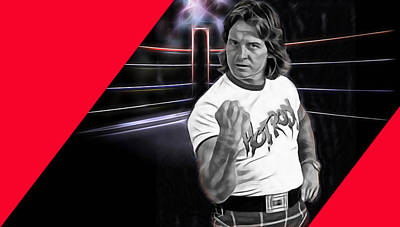 Rowdy Roddy Piper Wrestling Collection Art Print by Marvin Blaine