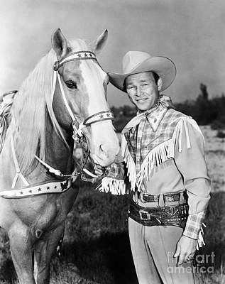 Cowboys Photograph - Roy Rogers by Granger