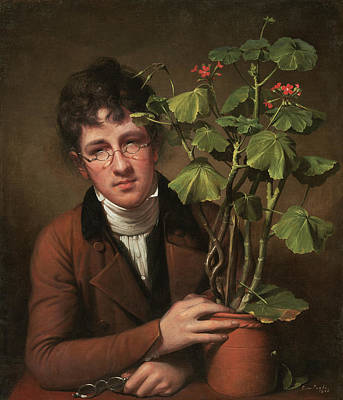 Painting - Rubens Peale With A Geranium by Rembrandt Peale
