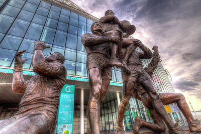 Rugby League Legends Statue Wembley Stadium Art Print by David Pyatt