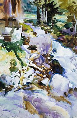 Drawing - Rushing Brook by John Singer Sargent