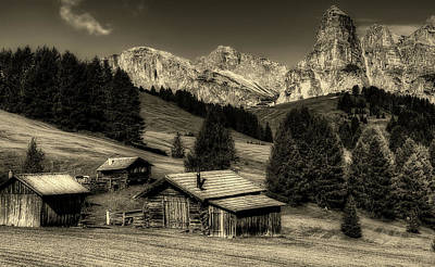 Photograph - Rustic Italian Homestead by Kordi Vahle